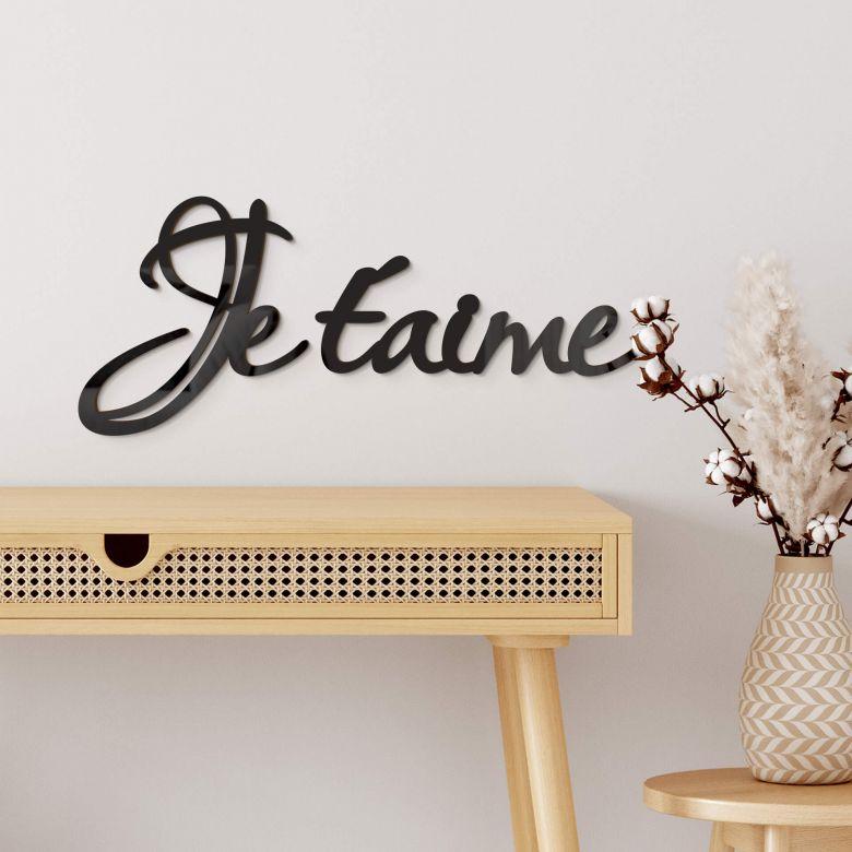Lettre décorative en verre acrylique - Je t'aime