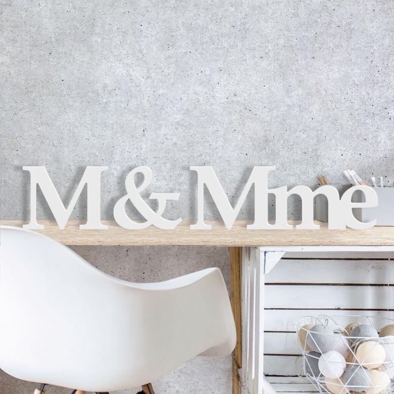 Dekobuchstaben 3D M&Mme
