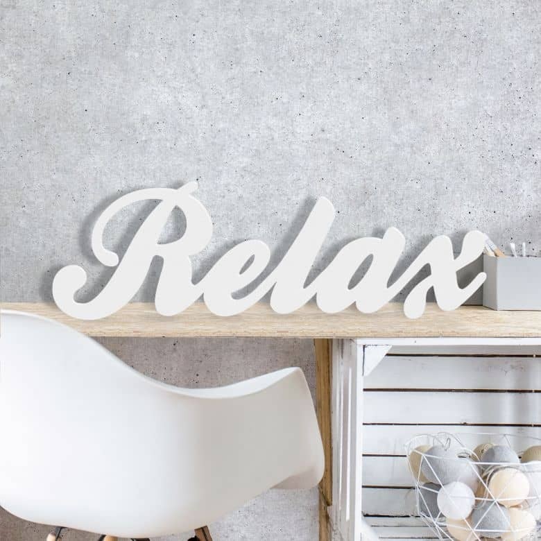Dekobuchstaben 3D Relax