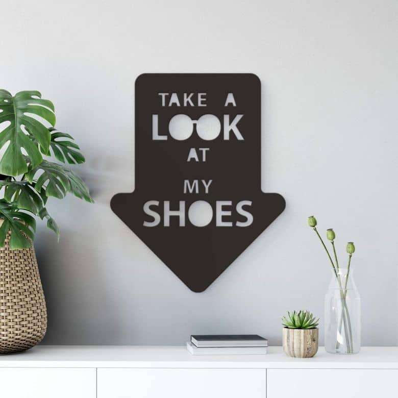 Dekobuchstaben 3D - Take a Look at my Shoes