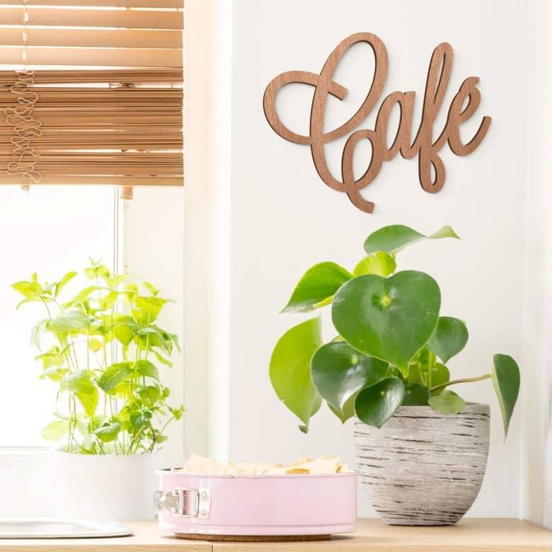 Scritta in legno - Café