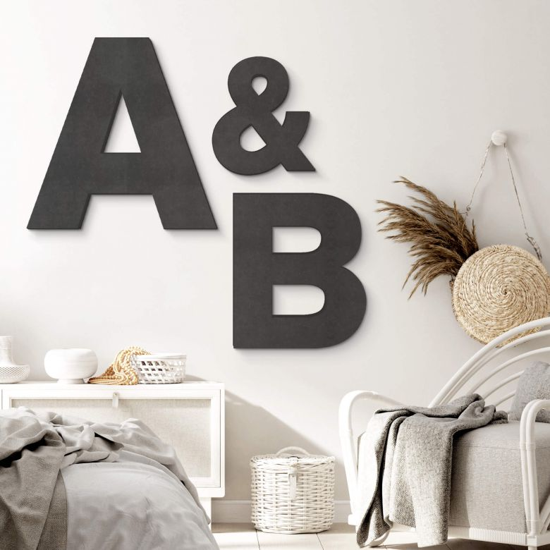 Decorative Letters up to 80 cm high - Swiss