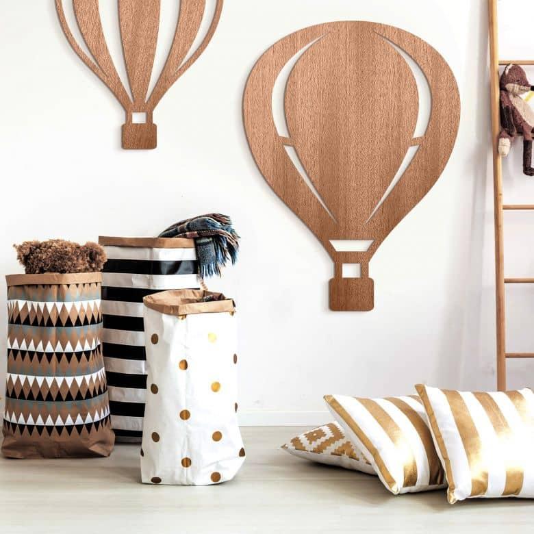 Holzdeko Mahagoni - Heißluftballon