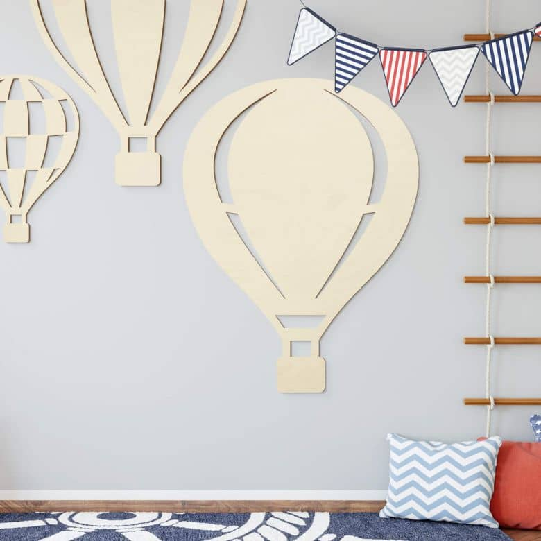 Holzdeko Pappel - Heißluftballon