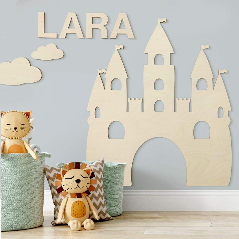 Wanddecoratie Populierenhout Prinsessen Kasteel