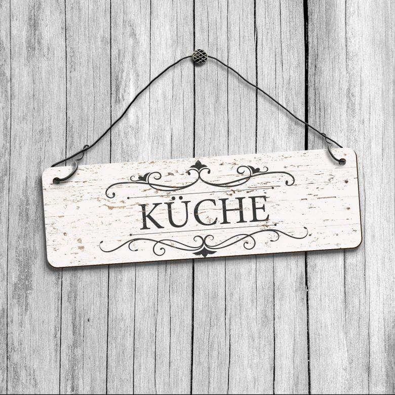 HDF-Dekoschild - Vintage Küche
