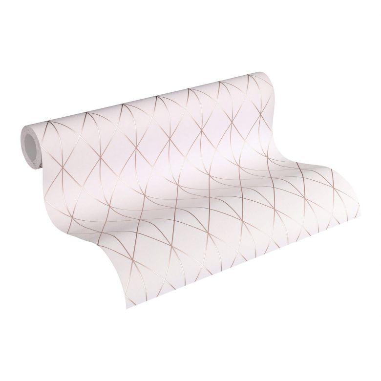 Designdschungel by Laura N. Vliestapete im skandinavischen Design matt glänzend metallic, rosa