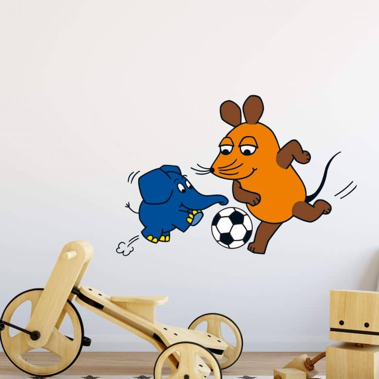 The Mouse plays Football Wall Sticker