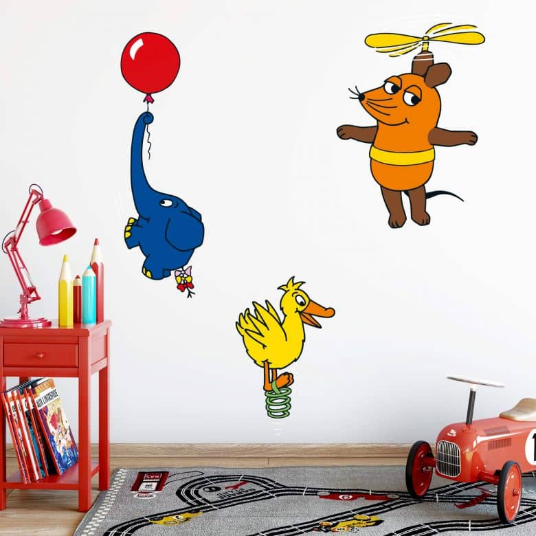 The Mouse and friends in the air Wall sticker