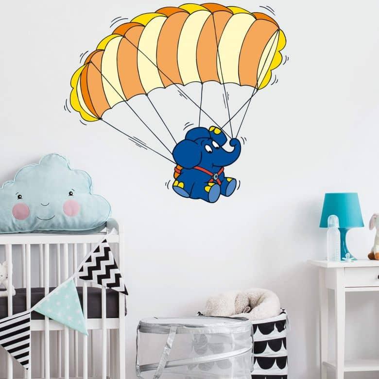 Elephant on a Parachute Wall sticker