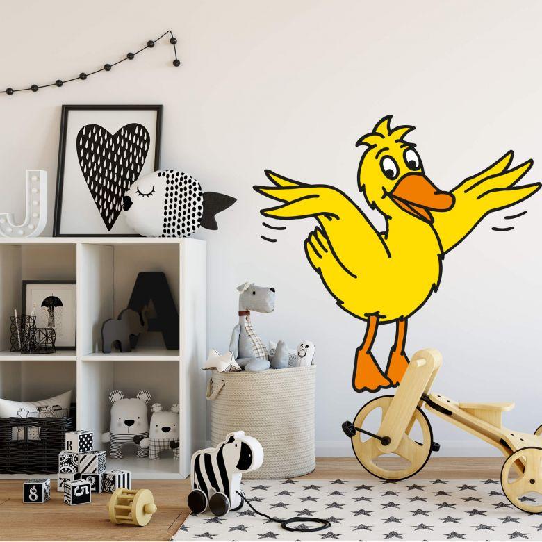 wandtattoo ente 2 deko f r kinderzimmer mit maus ente wall. Black Bedroom Furniture Sets. Home Design Ideas