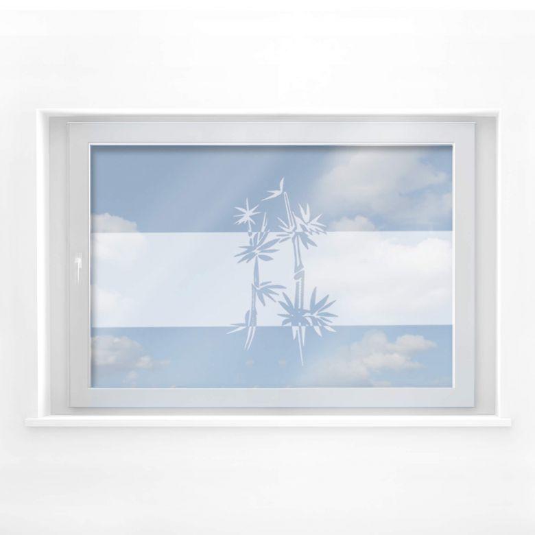 Fensterdekor Bambus 2 negativ