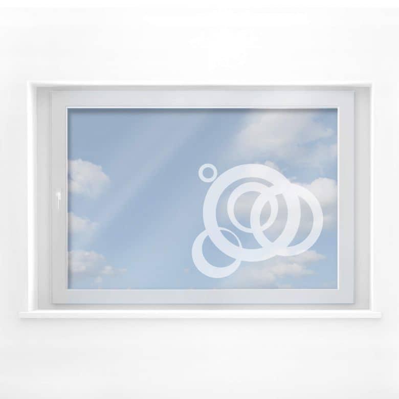 Fensterdekor Squirl positiv