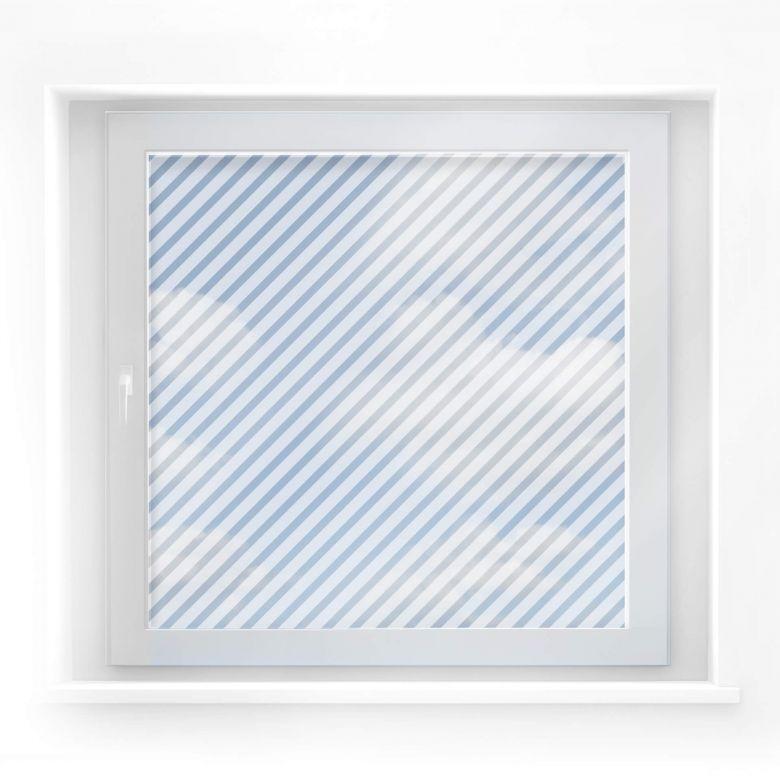 Fensterdekor Diagonale Linien