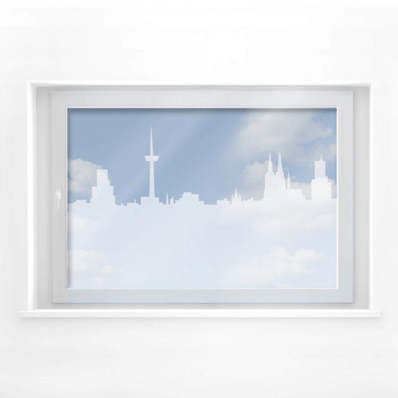Fensterdekor Köln Skyline