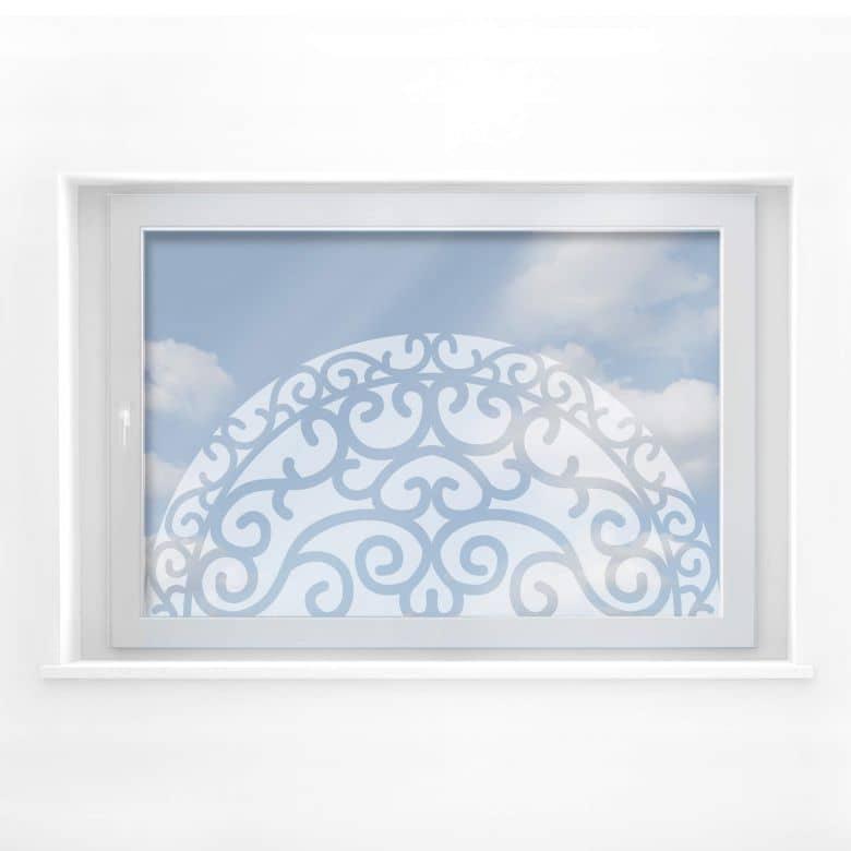 Fensterdekor Halbkreisornament 1