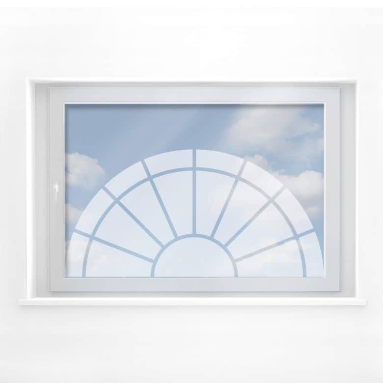 Fensterdekor Halbkreisornament 2