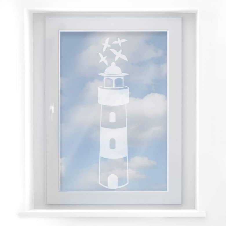 Fensterdekor Leuchtturm