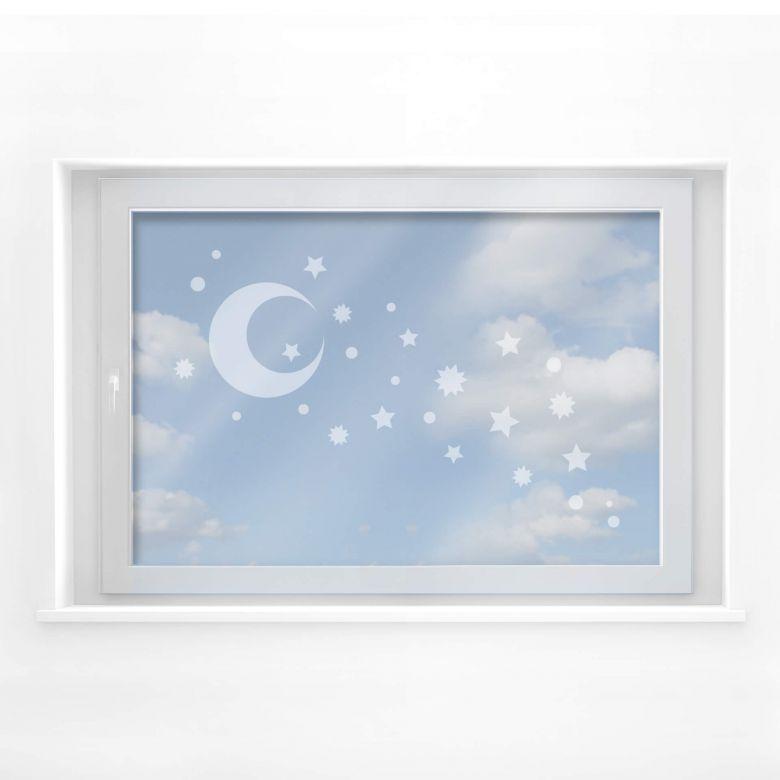 Fensterdekor Sternenhimmel