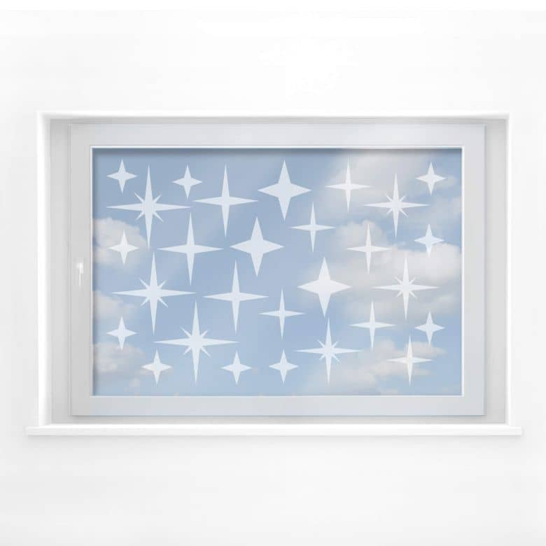 Frosted Glass - Starry Night