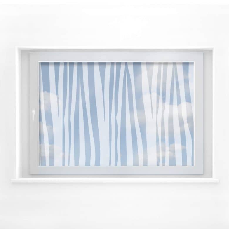 Fensterdekor Zebra Muster 2