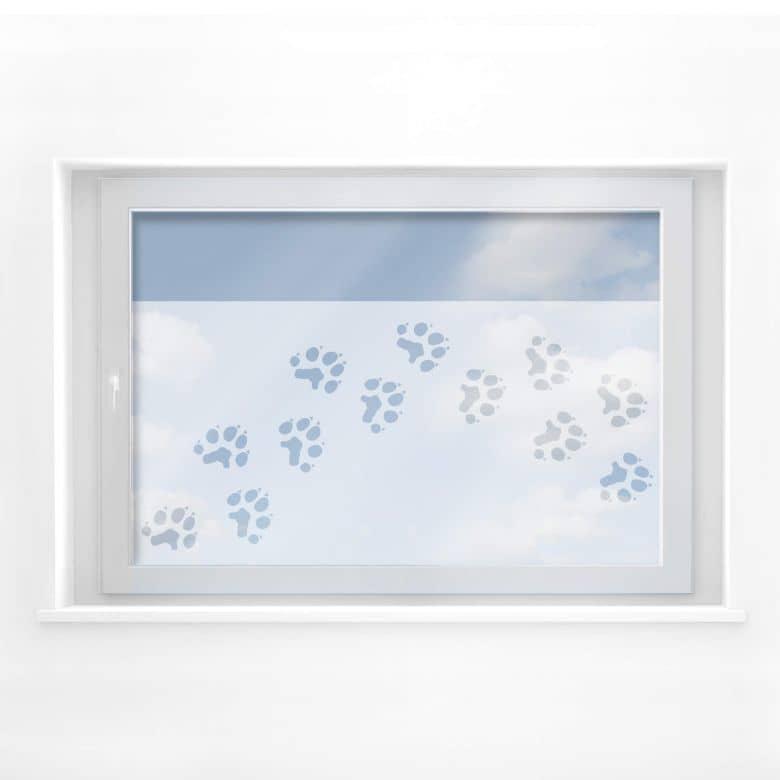 Fensterdekor Pfotentapsen