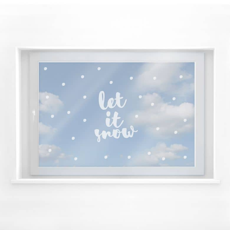 Fensterfolie Let it Snow