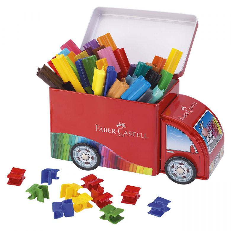 Faber-Castell Filzstift Connector Truck - 33 Farben