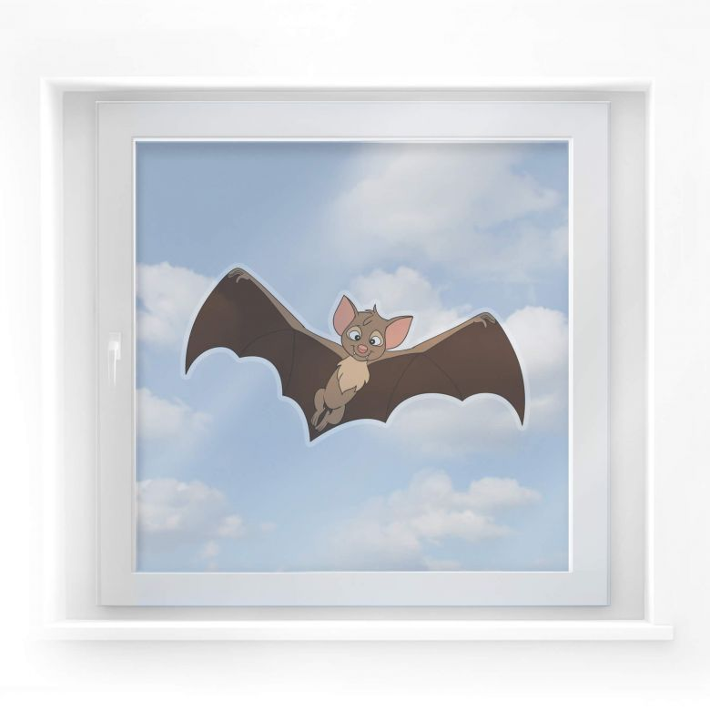 Fensterbild Bibi Blocksberg - Fledermaus