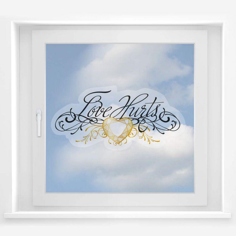 Fensterbild LA Ink Love Hurts