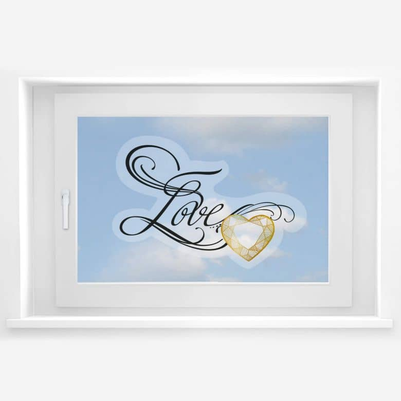 Fensterbild LA Ink Love