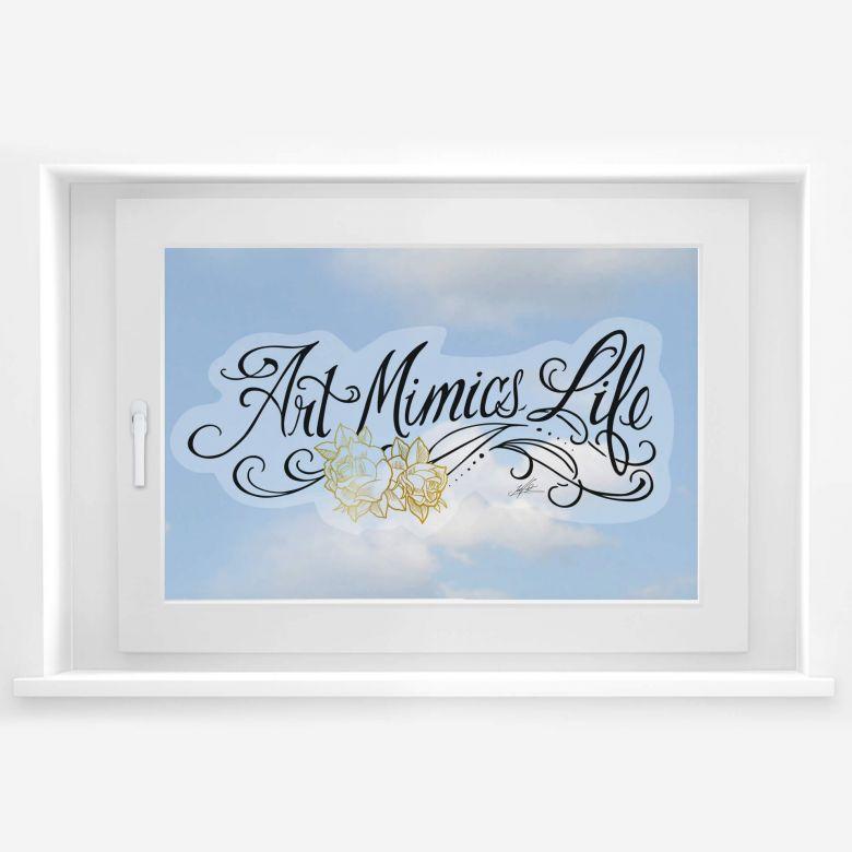 Fensterbild LA Ink Art Mimics Life