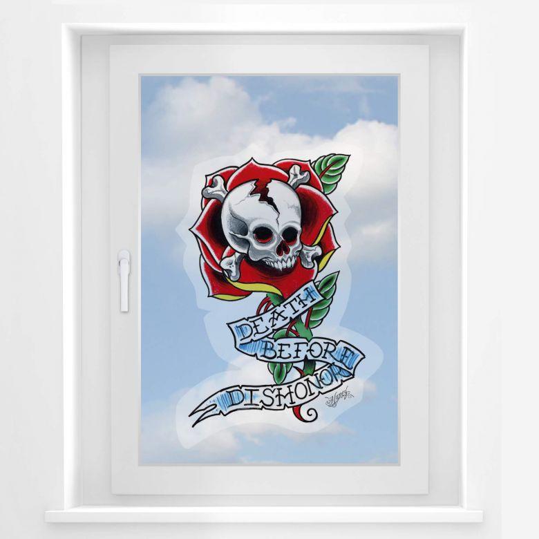 Fensterbild Miami Ink Death Before Dishonor