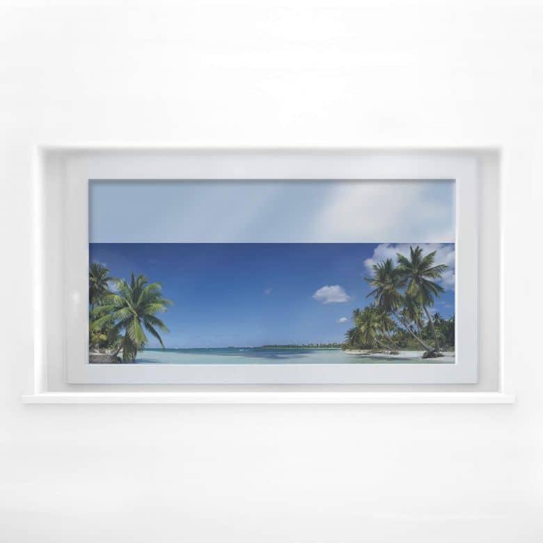 Window decor: Paradise