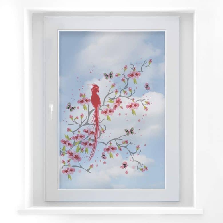Fensterbild Paradiesvogel