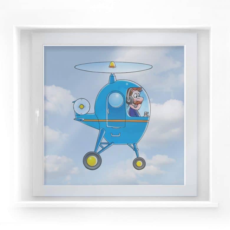 Fensterbild Hubschrauber