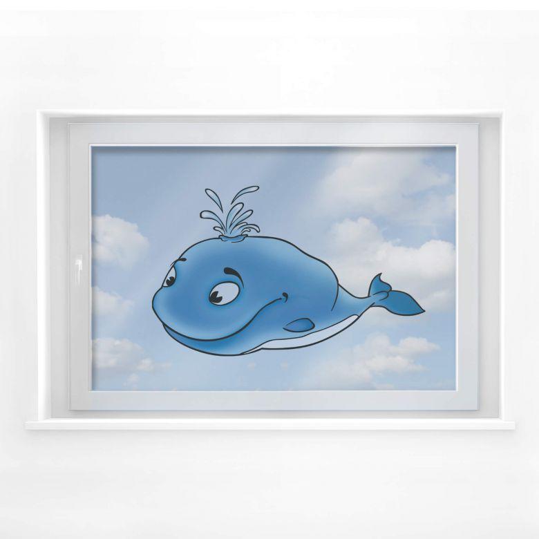 Fensterbild Wal