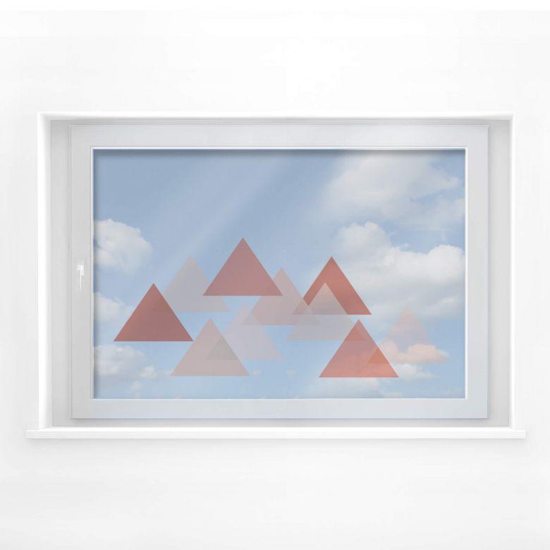 Fensterbild Dreieckswolke rot