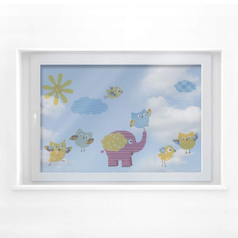 Fensterbild Lustige Tiere Set 03 (Muster)