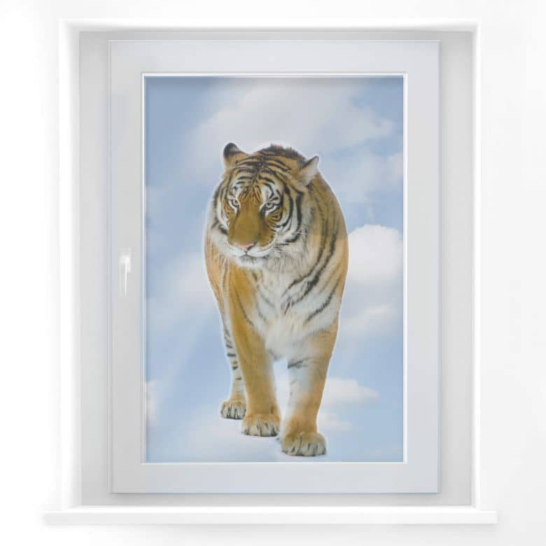 Fensterbild Real Tiger