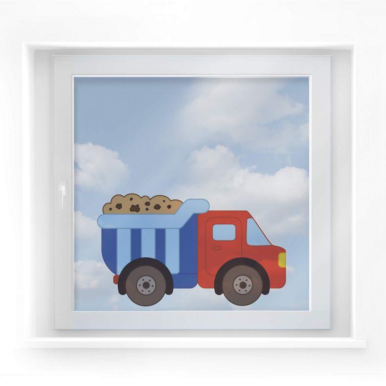 Fensterbild Baufahrzeug
