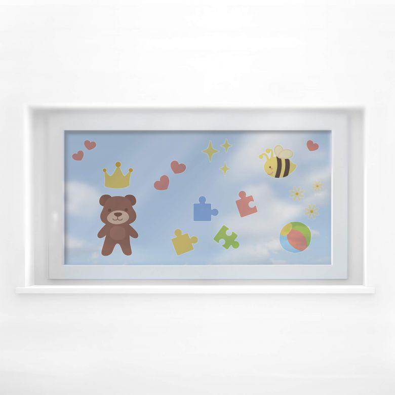 Fensterbild Spielzeug