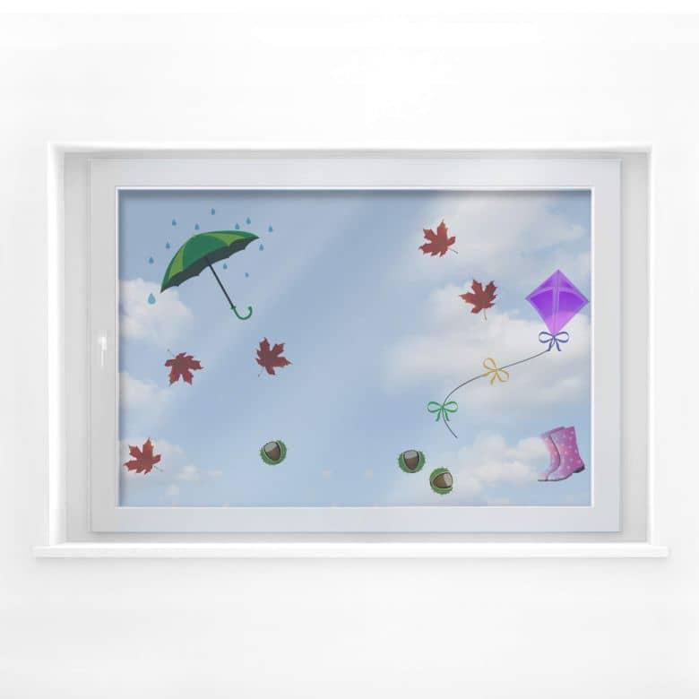 Fensterdekor Herbst - Set
