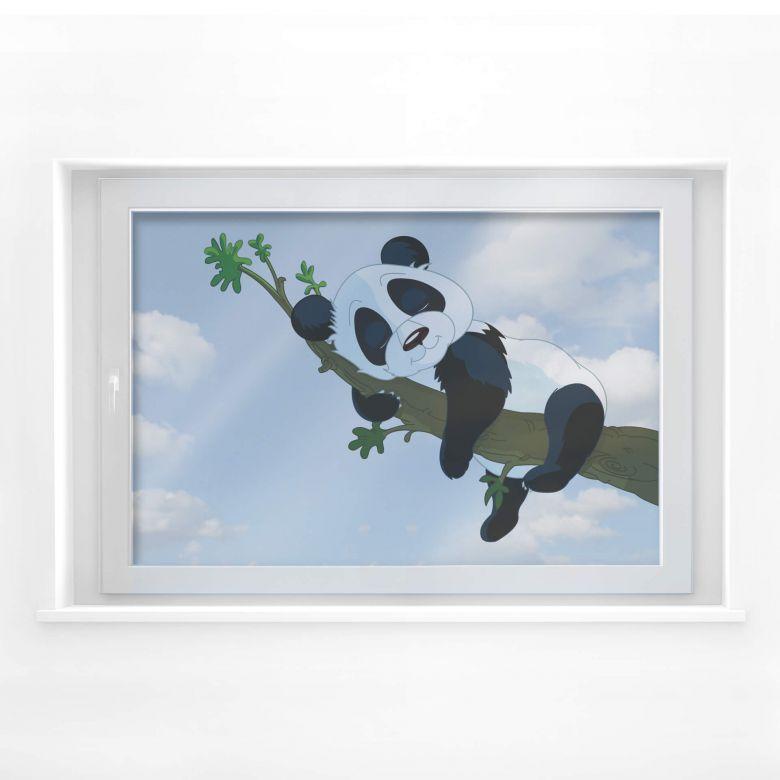 Fensterdekor Schlafender Panda