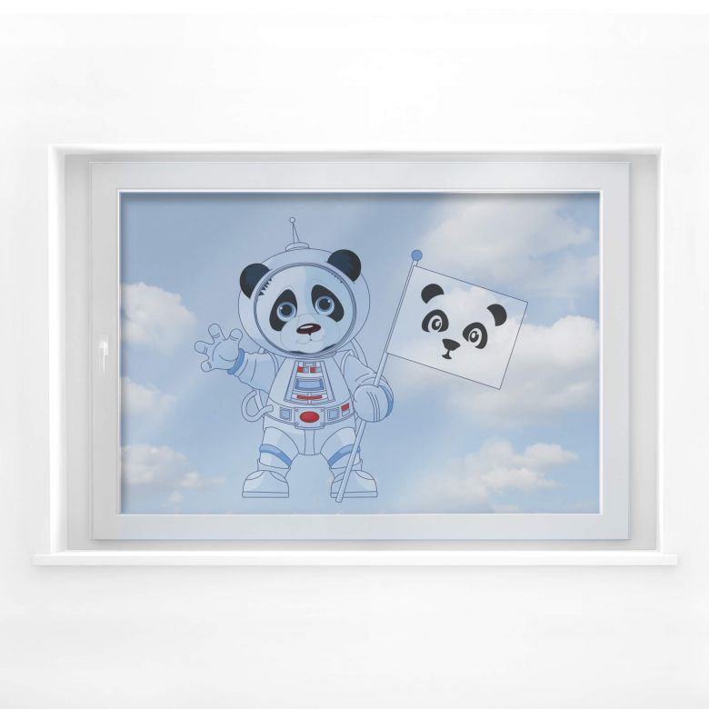 Fensterdekor Panda im All