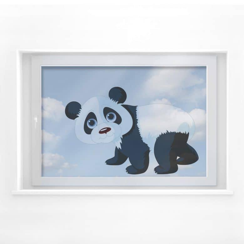Fensterdekor Laufender Panda