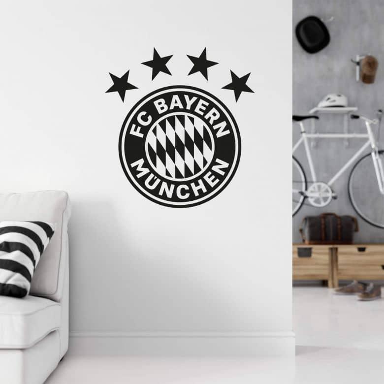 Muursticker Bayern München - Logo eenkleurig