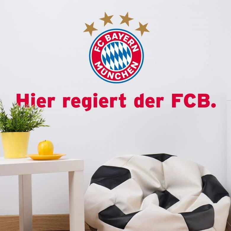 Wandtattoo Hier regiert der FCB.