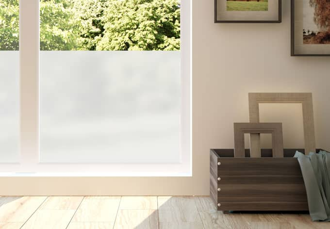 Frosted Glass - Blinds