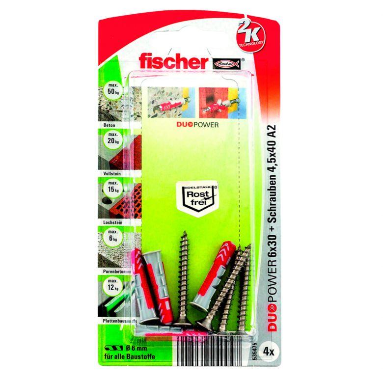 fischer DUOPOWER 6 x 30 S - 4er Set